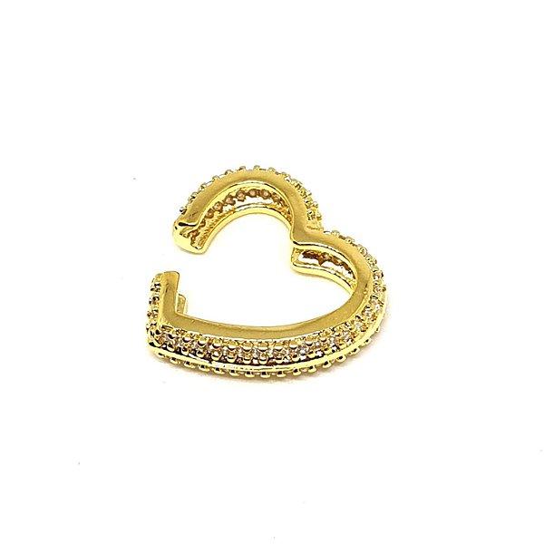 Piercing Coração Total cravejado Gold Mistic