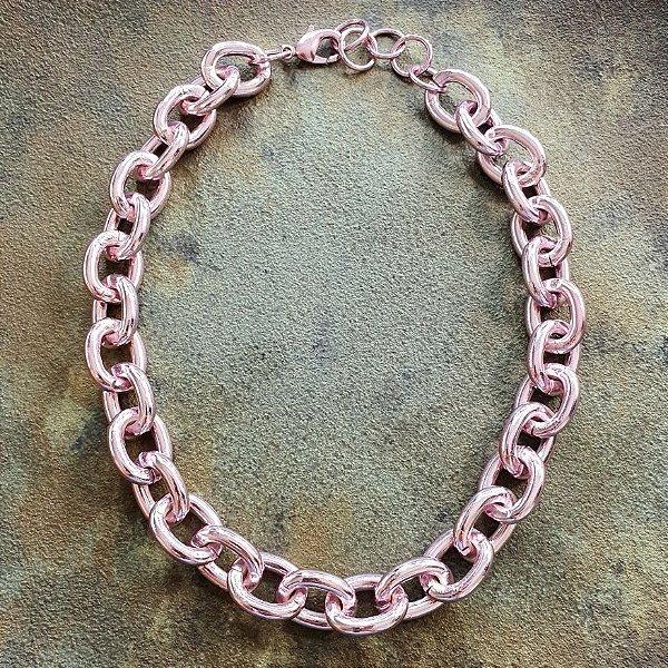 Colar Corrente Pink Mistic