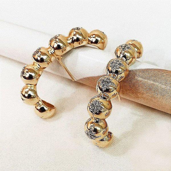 Brinco Earhook Balls Star Gold Mistic