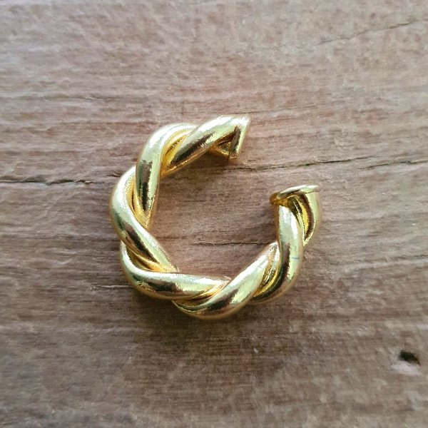 Piercing Earhook Strong Torcido Gold