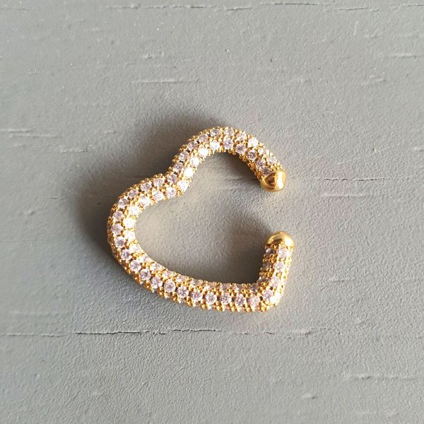 Piercing Coração 360° Cravejado Gold Mistic