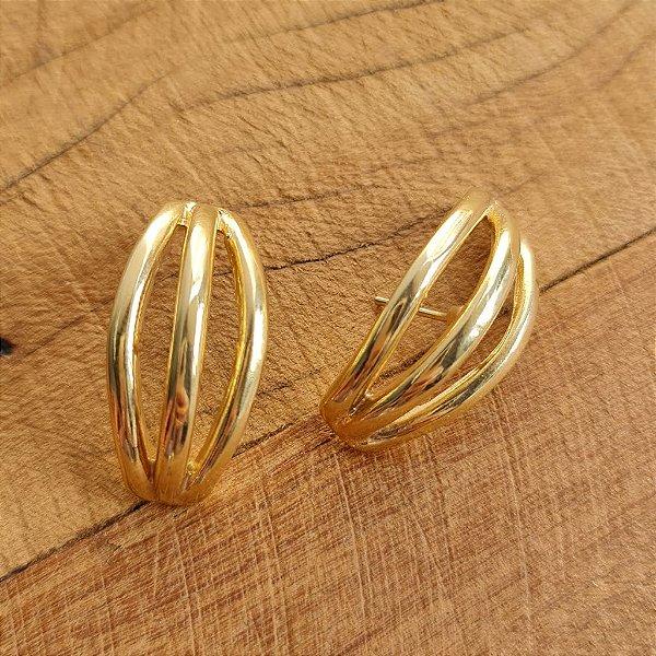 Brinco Earhook Tripla Gold