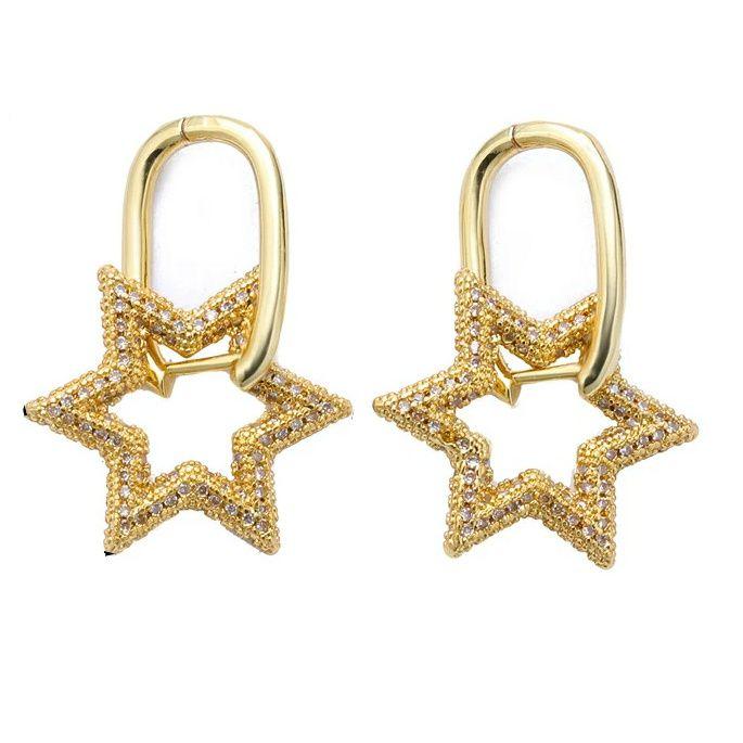 Brinco Argola Star Gold Mistc