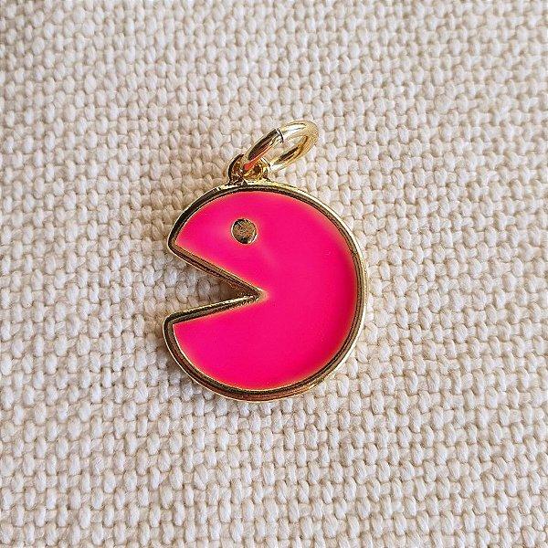 Pingente PAC Man Pink