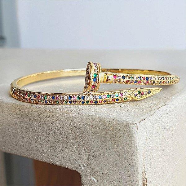 Pulseira Prego Rainbow Gold