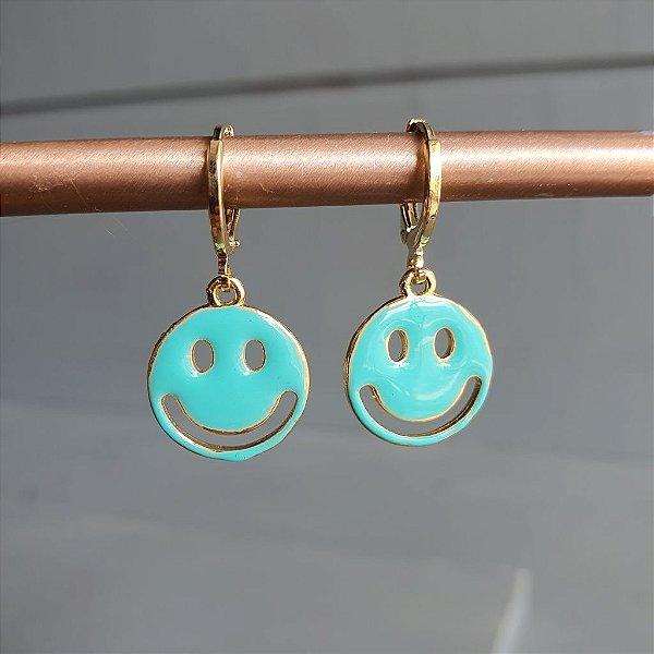 Brinco Smile Verde Tiffany