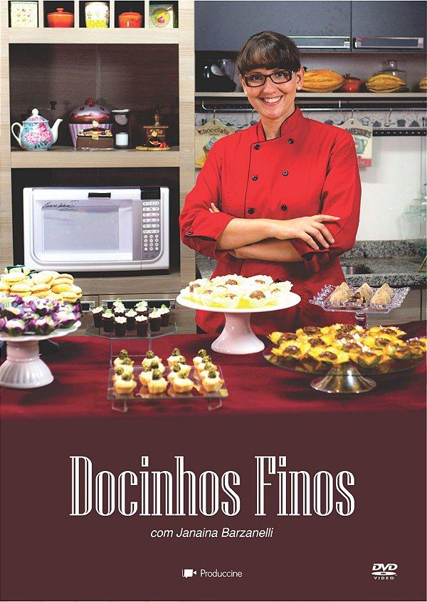 DVD Confeitaria DOCINHOS FINOS Chef JANAINA BARZANELLI