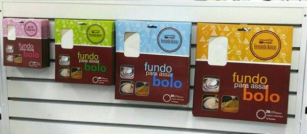 Fundo para Assar Bolo Redondo - Papel Manteiga - PCT c/ 12 unidades