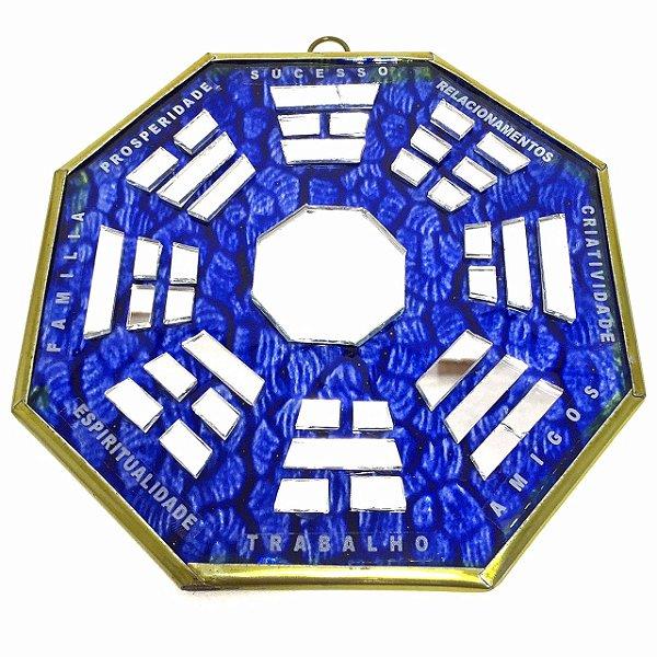 Baguá Espelhado Azul 13cm