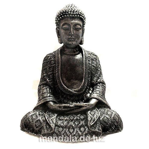Estátua de Buda Hindu Prateado 22cm