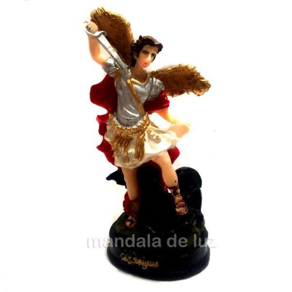 Estátua de Arcanjo São Miguel Resina 12,5cm