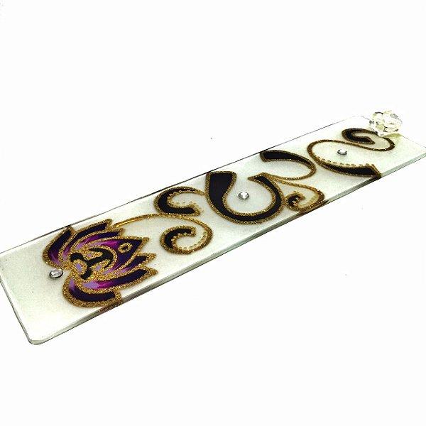 Incensário de Vidro OM Flor de Lótus - 615