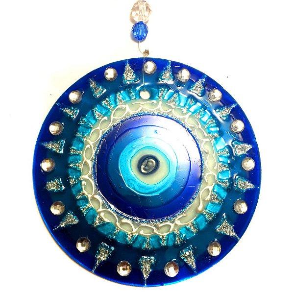 Mandala de Vidro Olho Grego 10cm - 736