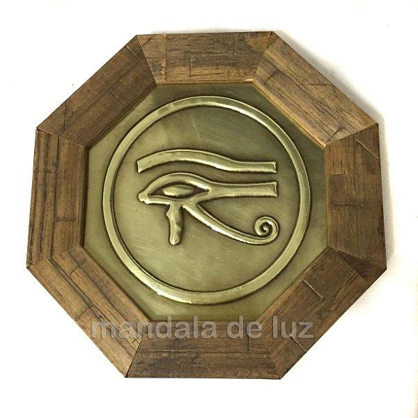 Quadro de Madeira Olho Horus 18cm
