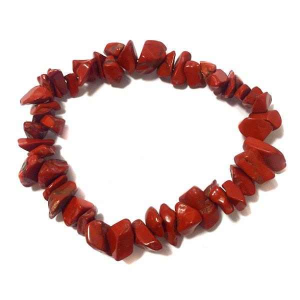Pulseira Cascalho de Jaspe Vermelho