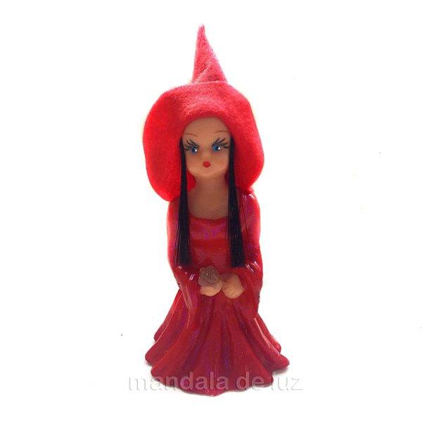 Sarah Feiticeira do Amor Vermelha Estátua de Resina