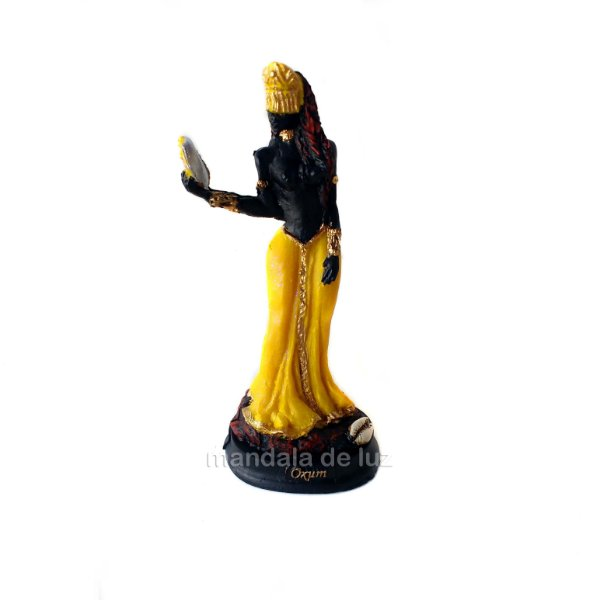 Estátua de Orixá Oxum Resina 15cm