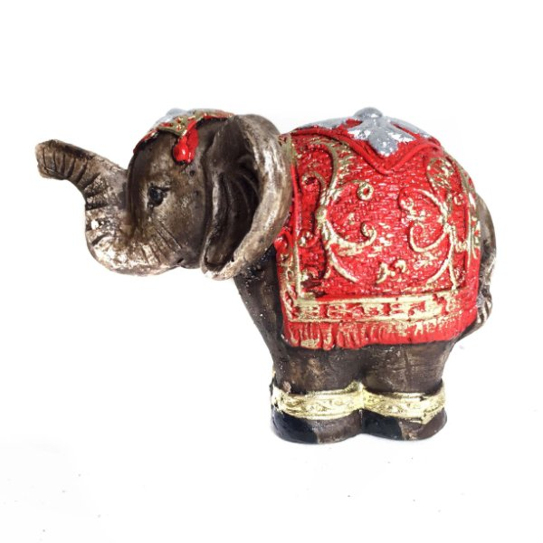 Estátua de Mini Elefante Indiano de Gesso 6cm