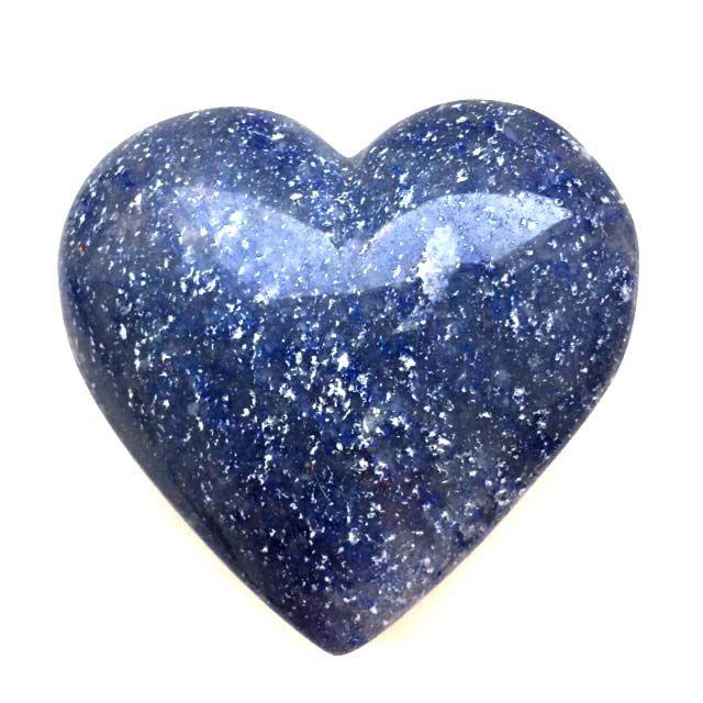 Coração de Cristal de Quartzo Azul 205g