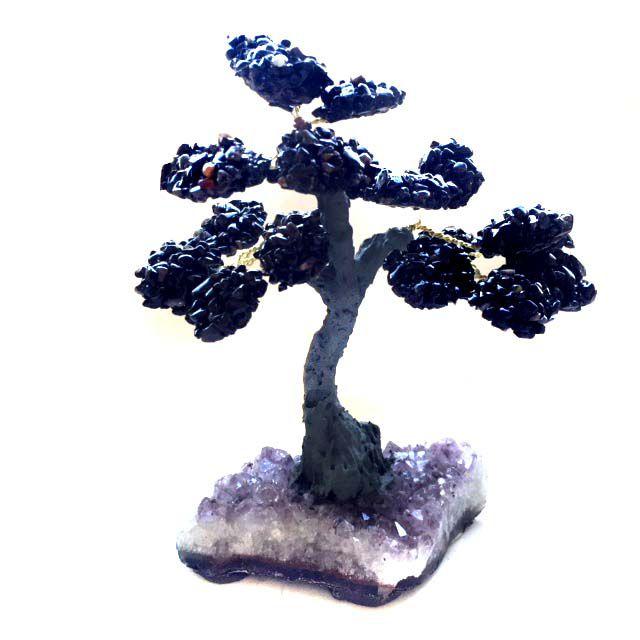 Árvore Cristais Ônix com Base de Drusa 17cm
