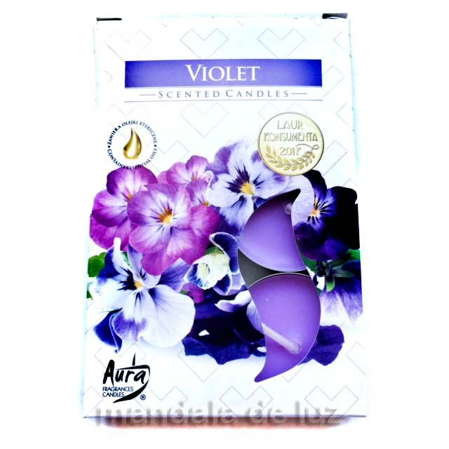 Velas Perfumadas Violet Tealights Scented Candles