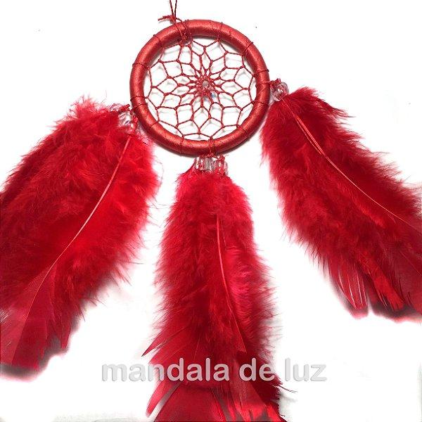 Filtro Sonhos Vermelho 23cm