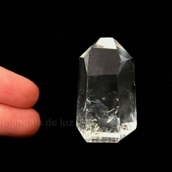 Ponta de Cristal Translúcido Pequeno