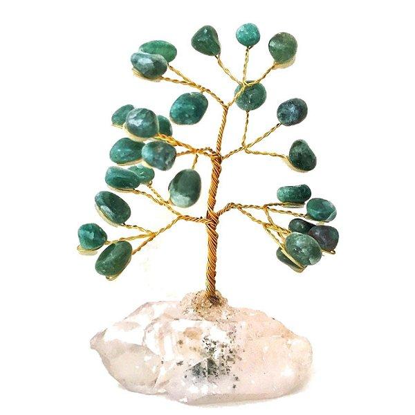 Árvore de Pedra Cristais Quartzo Verde 10cm