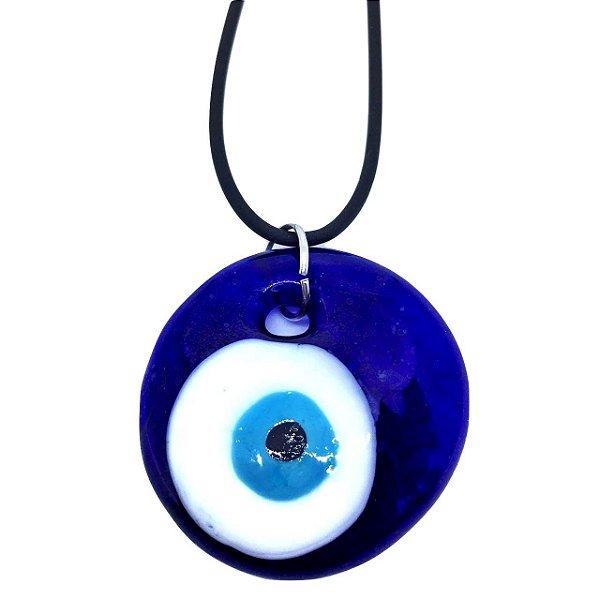 Colar Esotérico de Olho Grego Turco 4cm