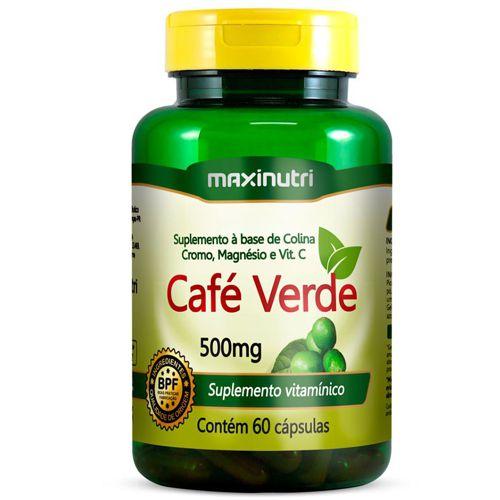 Café Verde Com Colina/Cromo/Magnésio e Vit C 60caps - Maxinutri