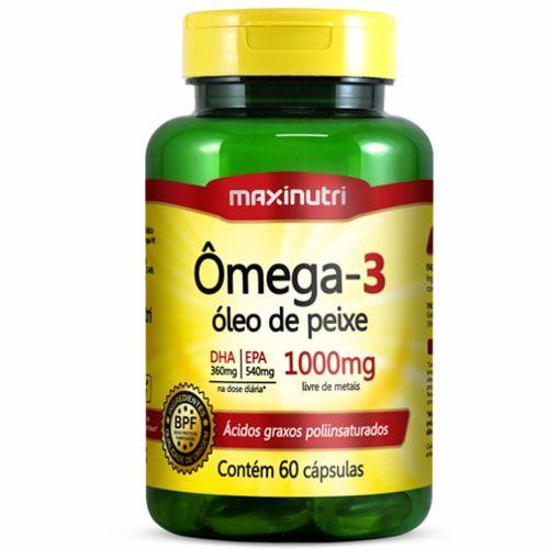 Ômega 3 Óleo de Peixe 60 Cápsulas - Maxinutri