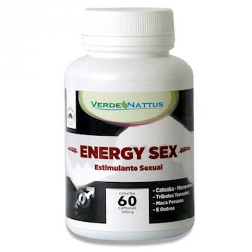 Estimulante Sexual Natural Energy Sex 60 cápsulas - Verde Nattus