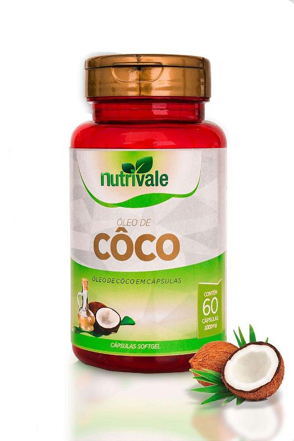 Óleo de Coco 1g 60 cápsulas - Nutrivale