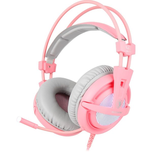 Headset Sades A6 Angel Edition 7.1 USB