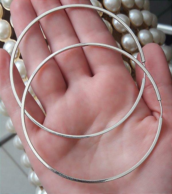 41ecf936c83e4 Brinco de Argola grande, prata 925 - Camarim Joias e Acessórios