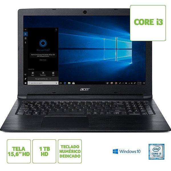 Notebook Acer Intel Core I3 7020u 4gb 1tb 15,6 Windows 10 Home