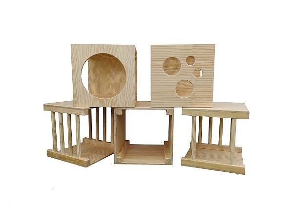 Playground Pikler 5 Cubos para Circuito de Atividades