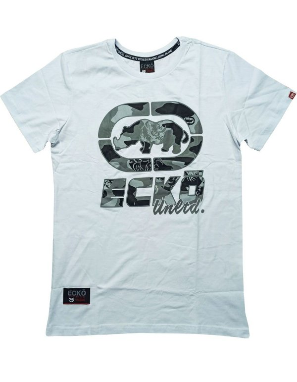 Camiseta Ecko Logo Grande Camuflado - E527A