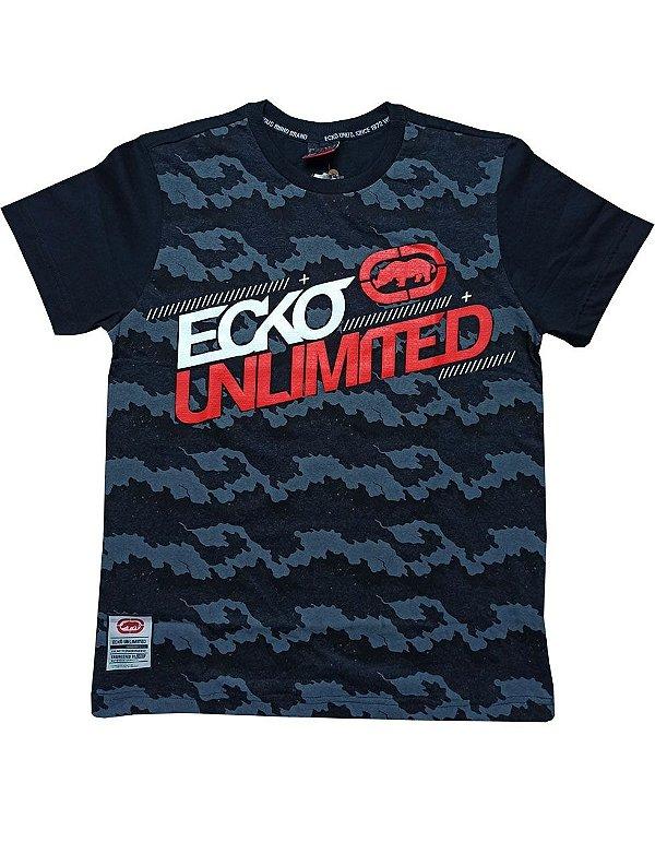 Camiseta Ecko Camuflada Logo Grande - E912A