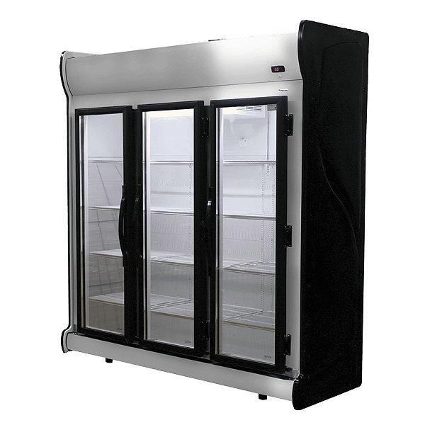 Expositora de Bebidas Vertical de 3 Portas Frost Free 1450L Fricon ACFM 1450