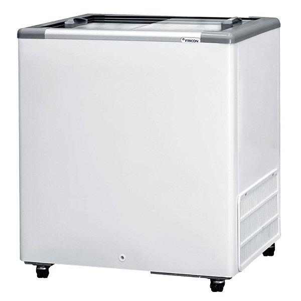Freezer Horizontal de 216L com 2 Tampas de Vidro Fricon HCEB 216 V