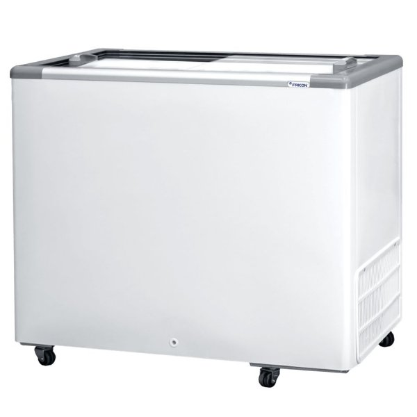 Freezer Horizontal de 311L com 2 Tampas de Vidro Fricon HCEB 311 V