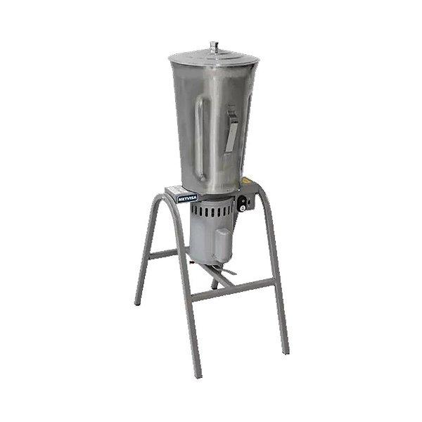Liquidificador Industrial Basculante de 25L Copo Inox 1/2 CV Metvisa LQL.25