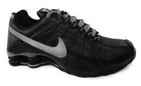 Tênis Nike Shox Júnior -Preto com Prata