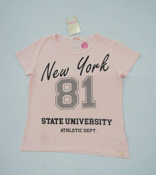 "CAMISETA T-SHIRT ""NYC 81"" - Rosa Crystal"