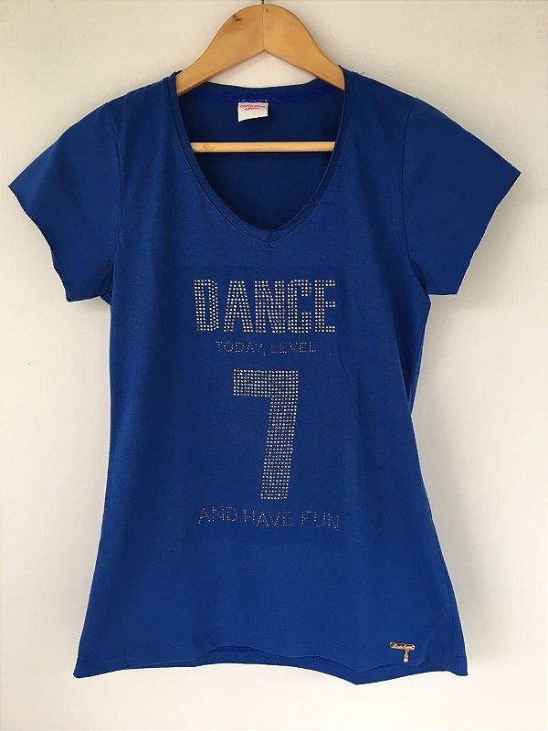 """T-SHIRT """"Dance"""" - Azul"""