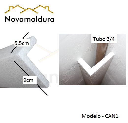 Moldura RodaTeto de isopor modelo CAN1 ( valor por metro)