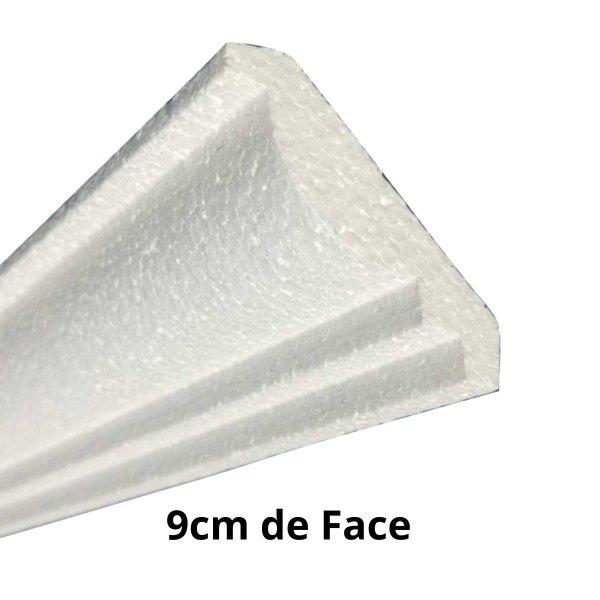 Moldura RodaTeto de isopor modelo P019 - 90mm de face ( valor por metro)