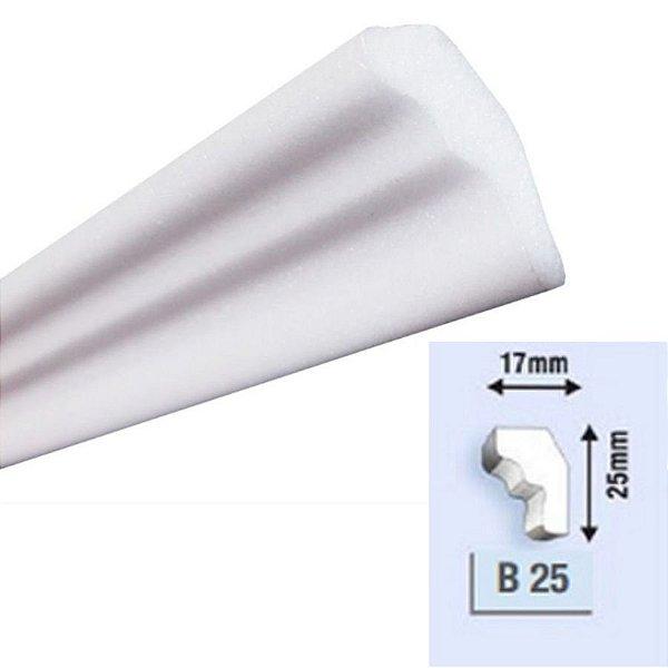 """Moldura RodaTeto de isopor modelo B25 """"Liso de fabrica"""" ( valor por metro )"""