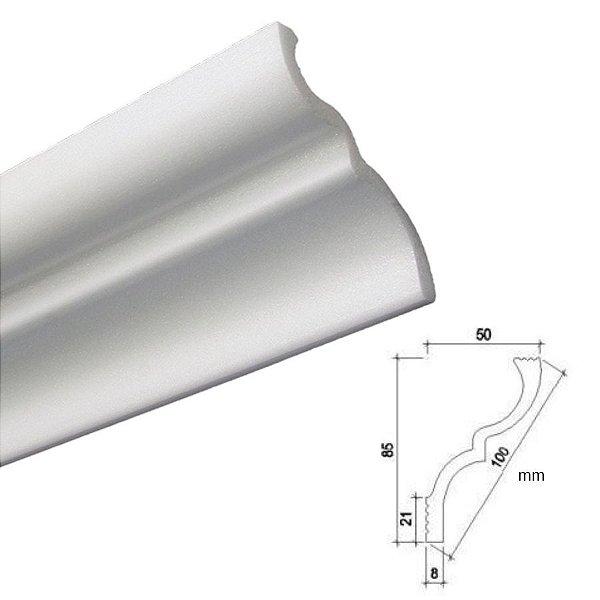 """Moldura RodaTeto de isopor modelo N100 """"Liso de fabrica"""" - F80 ( valor por metro )"""